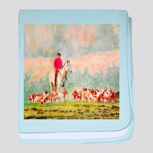 Foxhunt baby blanket