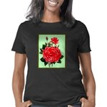 Red, Red Roses Vintage Pri Women's Classic T-Shirt