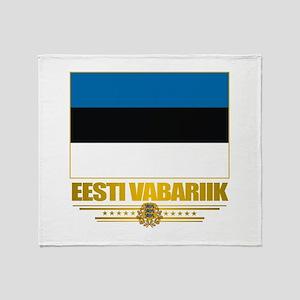 """""""Estonia Flag"""" Throw Blanket"""