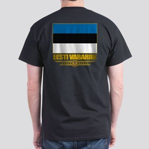 """Estonia Flag"" Dark T-Shirt"