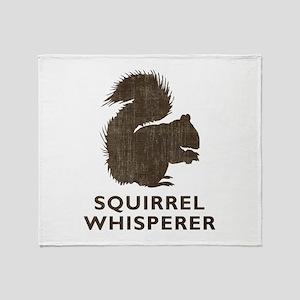 Vintage Squirrel Whisperer Throw Blanket
