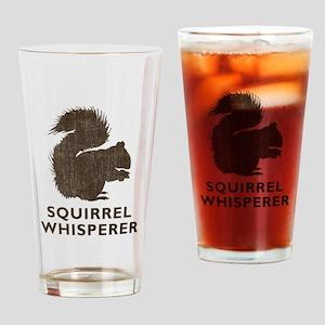 Vintage Squirrel Whisperer Drinking Glass