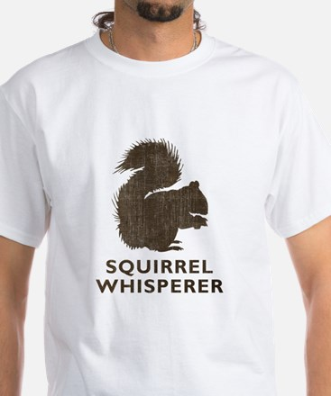 Vintage Squirrel Whisperer White T-Shirt