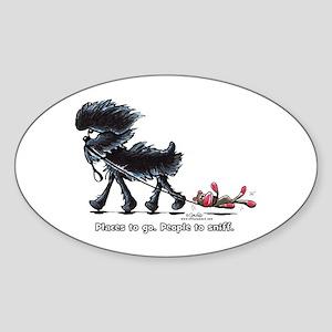 Affenpinscher Places Sticker (Oval)