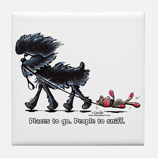 Affenpinscher Places Tile Coaster