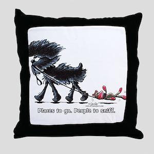 Affenpinscher Places Throw Pillow