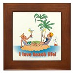 Beach Life Framed Tile