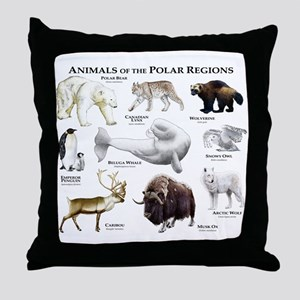 Animals of the Polar Regions Throw Pillow