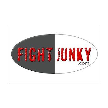 Fight Junky Mini Poster Print