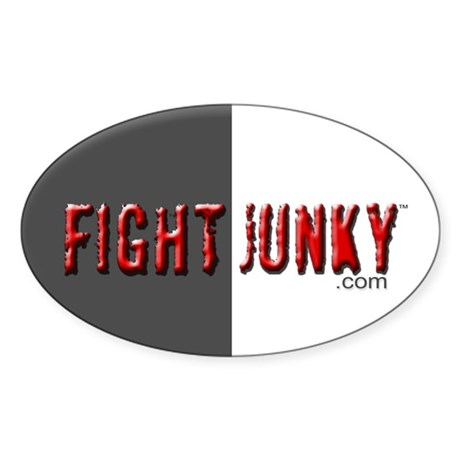 Fight Junky Oval Sticker