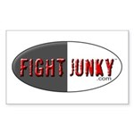Fight Junky Rectangle Sticker