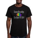 """Neurodiversity"" Men's Fitted T-Shirt (dark)"