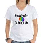 """Neurodiversity"" Women's V-Neck T-Shirt"