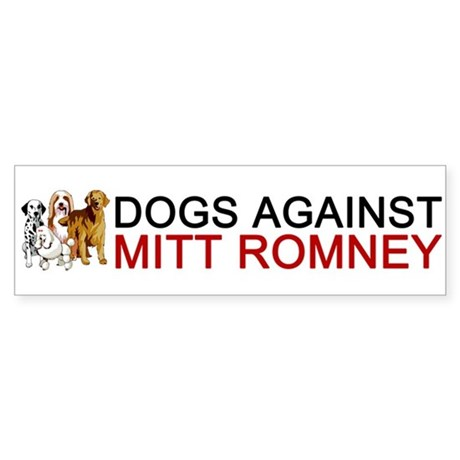 Dogs Against Mitt Romney Sticker (Bumper)