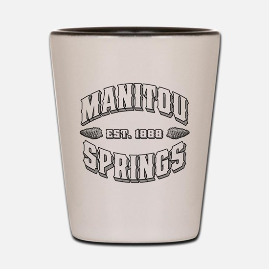 Manitou Springs Old Style Whi Shot Glass