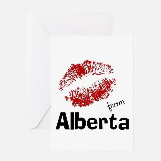 Kisses from Alberta Greeting Card