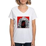 1 John 5:5-A Women's V-Neck T-Shirt