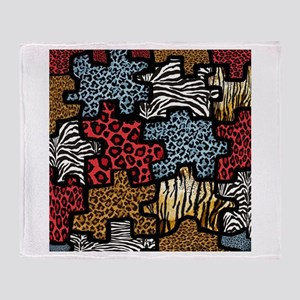 RAB Animal Print Puzzle Throw Blanket