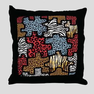 RAB Animal Print Puzzle Throw Pillow