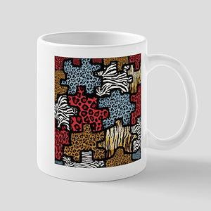 RAB Animal Print Puzzle Mug