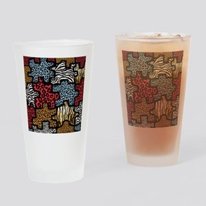 RAB Animal Print Puzzle Drinking Glass
