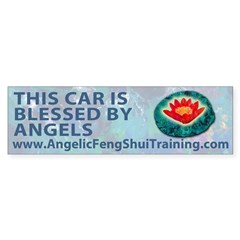 This Car Is Blessed By Angels Bumper Bumper Sticker