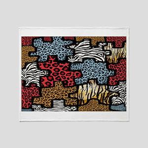 RAB Animal Print Puzzle II Throw Blanket