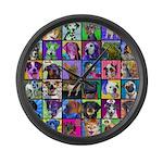Pop Art Pet Large Wall Clock
