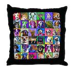 Pop Art Pet Throw Pillow