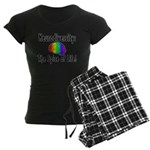 """Neurodiversity"" Women's Dark Pajamas"