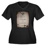 Apocalypse Women's Plus Size V-Neck Dark T-Shirt
