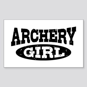 Archery Girl Sticker (Rectangle)