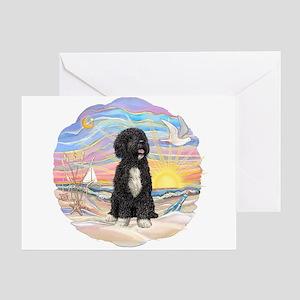 OceanSunrise-PWD5bw Greeting Card