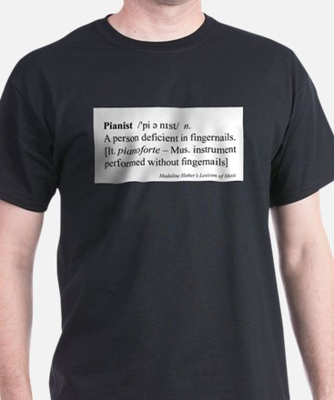 Humorous Pianist Definition T-Shirt