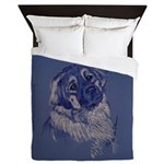 """A Dog Understands"" Leonberger Queen Duvet"