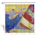 """Sailing"" (TM) Shower Curtain"