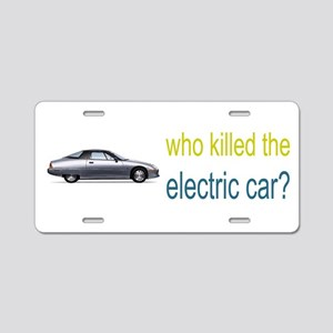who killed the electric car? Aluminum License Plat
