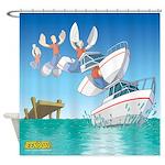 Teen Boat Shower Curtain