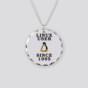 Linux user since 1995 - Necklace Circle Charm