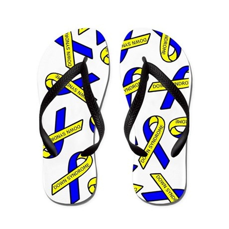 Down Syndrome Awareness Ribbons Flip Flops