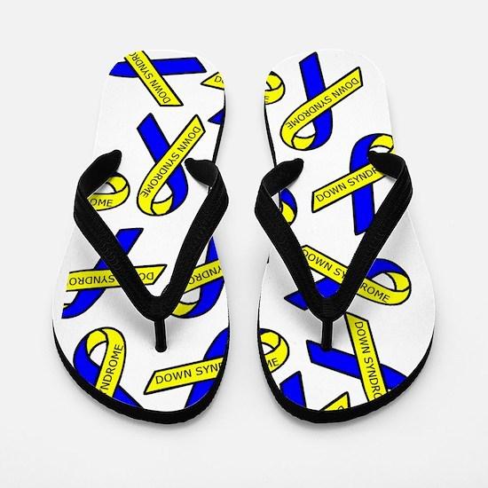 Down Syndrome Awareness Ribbons Flip Flops