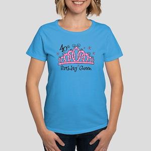 Tiara 40th Birthday Queen Women's Dark T-Shirt