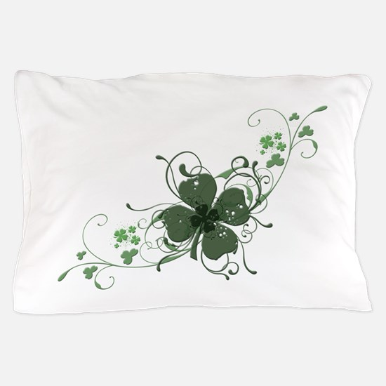 Elegant Shamrock Pillow Case