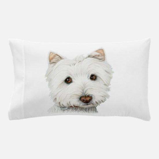 Cute Westie Dog Pillow Case