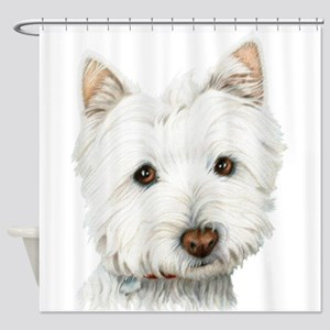 Cute Westie Dog Shower Curtain