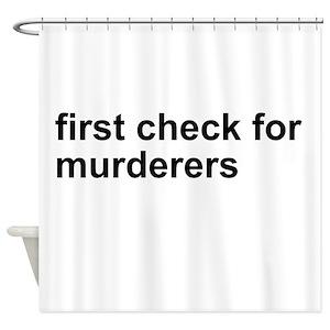 Serial Killer Shower Curtains