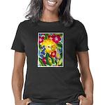 Hummingbird in Tropical Fl Women's Classic T-Shirt