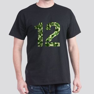 Number 12, Camo Dark T-Shirt