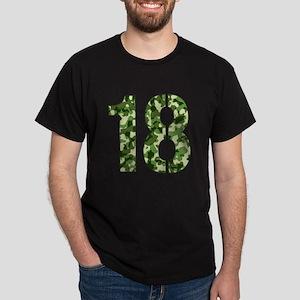 Number 18, Camo Dark T-Shirt