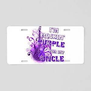 I'm Rockin' Purple for my Unc Aluminum License Pla